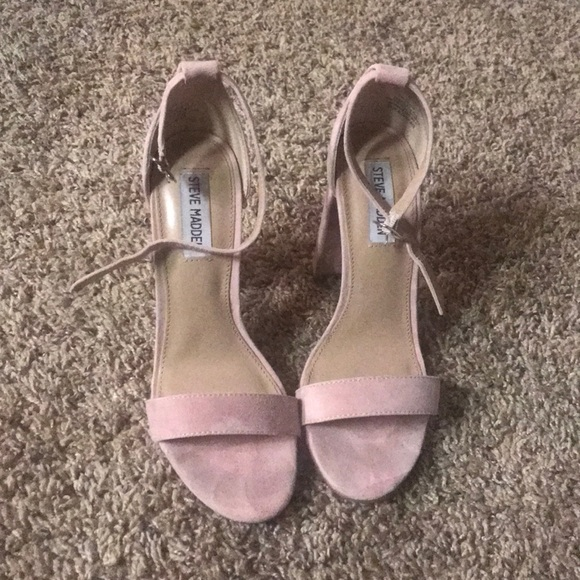 64a546a70c6 Size 7 Steve Madden heels. Suede light pink. M 5ab07d278290af071aeed6a0
